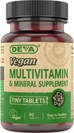 Deva Nutrition - Vegan Multivitamin & Mineral Supplement Tiny Tablets - 90 Tablets - $5.59