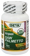 Deva Nutrition - Vegan Organic Saw Palmetto 300 mg. - 90 Vegetarian Capsules, from category: Nutritional Supplements