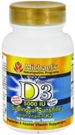 Michael's Naturopathic Programs - Vitamin D3 Sublingual Sunshine With Vitamin K2 Natural Apricot Flavor 5000 IU - 60 Tablets