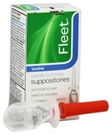 C.B. Fleet Co., Inc. - Fleet Liquid Glycerin Suppositories Laxative - 4 Suppositories (301320185829)