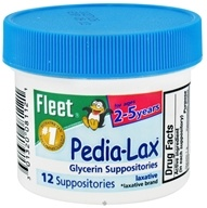 Image of C.B. Fleet Co., Inc. - Fleet Pedia-Lax Glycerin Suppositories Laxative - 12 Suppositories