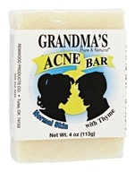 Remwood Products Co. - Grandma's Pure & Natural Acne Bar with Thyme for Normal Skin - 4 oz.