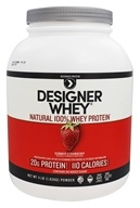 Designer Protein - Designer Whey Natural 100% Whey Protein Summer Strawberry - 4 lbs.