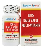 Superior Source - One Daily Value Multi Vitamin Instant Dissolve - 100 Tablets by Superior Source
