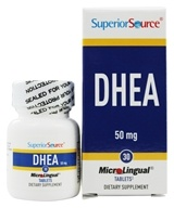 Superior Source - DHEA Instant Dissolve 50 mg. - 30 Mini-Tab(s), from category: Nutritional Supplements