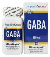 Superior Source - GABA Instant Dissolve - 100 Mini-Tab(s), from category: Nutritional Supplements