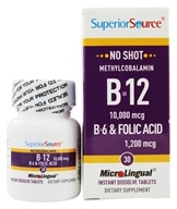 Superior Source - No Shot B12 Methylcobalamin Instant Dissolve 10000 mcg. - 30 Tablets - $25.87