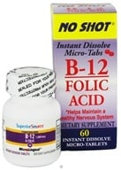 Superior Source - No Shot B12 Folic Acid Instant Dissolve Micro-Tabs - 60 Tablets - $7.60