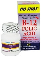 Superior Source - No Shot B12 Folic Acid Instant Dissolve Micro-Tabs - 60 Tablets (076635900411)