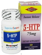 Superior Source - 5-HTP Instant Dissolve 75 mg. - 60 Tablets, from category: Nutritional Supplements