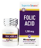 Image of Superior Source - Folic Acid Instant Dissolve 1200 mcg. - 100 Tablets