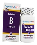 Superior Source - Balance B Complex Instant Dissolve - 60 Tablets, from category: Vitamins & Minerals