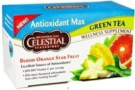 Celestial Seasonings - Antioxidant Max Green Tea Blood Orange Star Fruit - 20 Tea Bags (070734519482)
