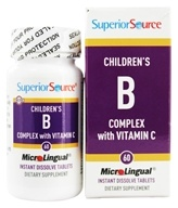 Superior Source - Children's B Complex with Vitamin C Instant Dissolve - 60 Tablets - $5.24