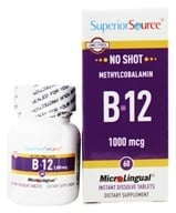 Superior Source - No Shot B12 Methylcobalamin Instant Dissolve 1000 mcg. - 60 Tablets, from category: Vitamins & Minerals