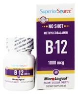 Superior Source - No Shot B12 Methylcobalamin Instant Dissolve 1000 mcg. - 60 Tablets - $9.74