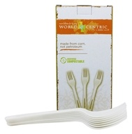 World Centric - Compostable Corn Starch Forks - 24 Count