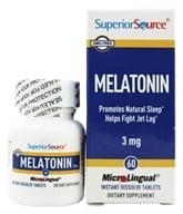 Image of Superior Source - Melatonin Instant Dissolve 3 mg. - 60 Tablets