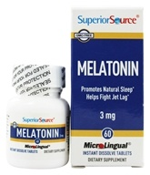 Superior Source - Melatonin Instant Dissolve 3 mg. - 60 Tablets by Superior Source