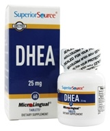 Superior Source - DHEA Instant Dissolve 25 mg. - 60 Tablets by Superior Source