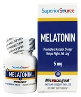 Superior Source - Melatonin Instant Dissolve 5 mg. - 60 Tablets - $7.49