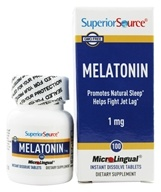 Superior Source - Melatonin Instant Dissolve 1 mg. - 100 Tablets (076635907304)