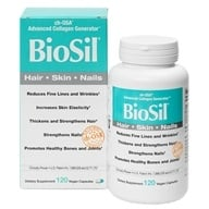 Natural Factors - BioSil cH-OSA Advanced Collagen Generator 5 mg. - 120 Vegetarian Capsules Formerly by Jarrow & Natrol by Natural Factors