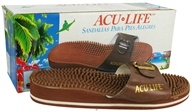 Acu-Life - Massage Sandals With Buckle M7/W8 Brown - 1 Pair