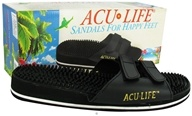 Acu-Life - Massage Sandals With Velcro M4/W5 Black - 1 Pair CLEARANCE PRICED