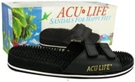 Acu-Life - Massage Sandals With Velcro M8/W9 Black - 1 Pair