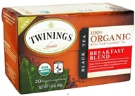 Twinings of London - Organic Breakfast Blend Tea - 20 Tea Bags - $4.74