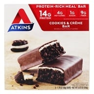 Atkins Nutritionals Inc. - Advantage Meal Bar Cookies N' Creme - 5 Bars (637480025805)
