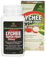 Image of Genceutic Naturals - Lychee Super Fruit Complex 500 mg. - 60 Vegetarian Capsules