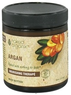 Image of Organix South - Naked Organix Argan Body Butter Fragrance Free - 4 oz.