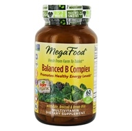 MegaFood - DailyFoods Balanced B Complex - 60 Vegetarian Tablets by MegaFood