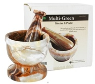 Nature's Artifacts - Mortar & Pestle Multi-Green