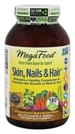MegaFood - Skin, Nails & Hair - 180 Vegetarian Tablets