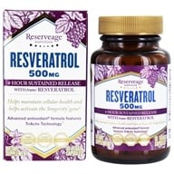 Reserveage Nutrition - Resveratrol 500 mg. - 30 Vegetarian Capsules