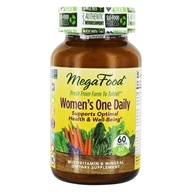 MegaFood - DailyFoods Women's One Daily - 60 Vegetarian Tablets - $36.25
