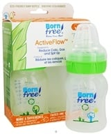Image of BornFree - Active Flow Eco Deco Baby Bottle BPA Free Twin Pack - 2 x 5 oz. Bottles, CLEARANCED PRICE