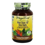 MegaFood - DailyFoods Men Over 40 One Daily Iron Free - 60 Vegetarian Tablets - $35.43