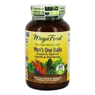 MegaFood - DailyFoods Men's One Daily Iron Free - 60 Vegetarian Tablets - $36.25