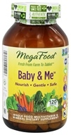 MegaFood - DailyFoods Baby & Me - 120 Vegetarian Tablets