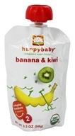 HappyBaby - Organic Baby Food Stage 2 Meals Ages 6+ Months Banana & Kiwi - 3.5 oz. by HappyBaby