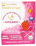 HappyBaby - HappyYogis Organic Superfoods Yogurt and Fruit Snacks Mixed Fruit - 6 Pack(s) (formerly HappyMelts Organic Yogurt Snacks), from category: Health Foods