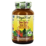 MegaFood - DailyFoods One Daily Iron Free - 60 Vegetarian Tablets, from category: Vitamins & Minerals