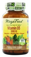MegaFood - DailyFoods Vitamin D-3 Bioactive Form 1000 IU - 60 Vegetarian Tablets - $20.73