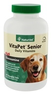 NaturVet - VitaPet Senior With Glucosamine For Dogs - 60 Chewable Tablets
