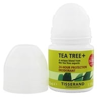 Image of Tisserand Aromatherapy - Deodorant Roll-On Purifying Organic Tea-Tree, Lemon & Rosemary - 1.1 oz.