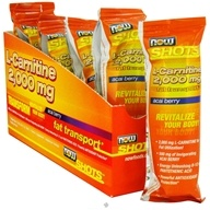 NOW Foods - Shots L-Carnitine 2,000 mg Acai Berry - 0.5 oz. - $1.49